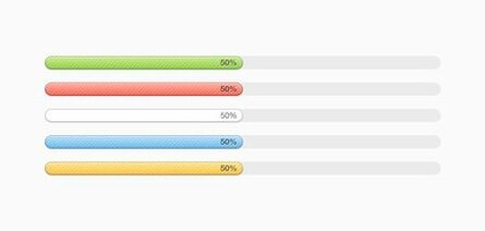 Multi-coloured Progress Bars (PSD)