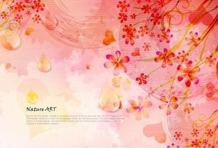 Romantic Floral Pattern Background Vector Design Material -5 Romance Flowers Color