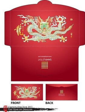Long Red Envelope Template 07