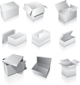 Vector Elements Of The Blank Boxes Vi