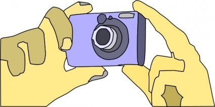 Holding Digital Camera