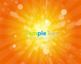 Vector Background Sunshine