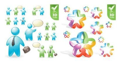 User roles and pentacle 3D icon
