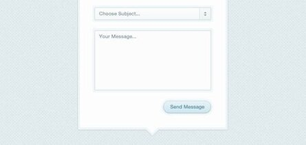 Modal Box Contact Form (PSD)