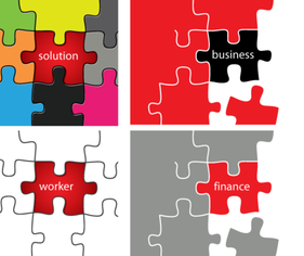 Vector Puzzle Pieces Solution Business