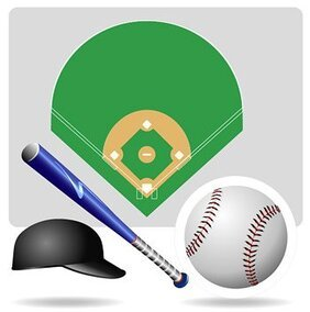 Vector baseball equipment, material
