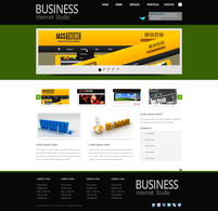 Business internet studio theme psd
