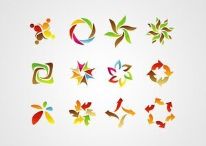 Abstract Logo Design Elements (Free)