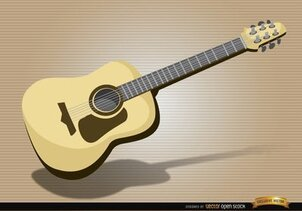 Acoustic guitar musical instrument