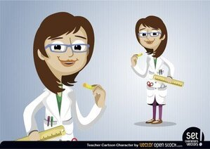 Teacher Cartoon Character