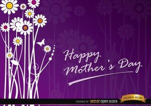 Mother's day flowers gift card