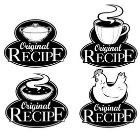 Black and white royal style ingredients label 05 - vector ma