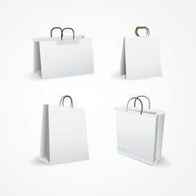 White Shopping Bag Vector Set (Free)