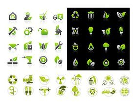 Environmental protection icon set