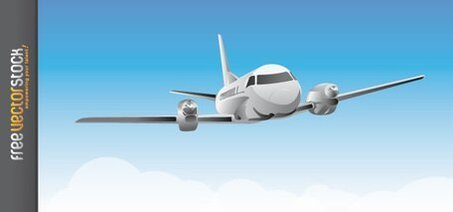 Vector Plane Airplane Airport Cloud