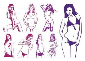 Sexy Women Graphics Set