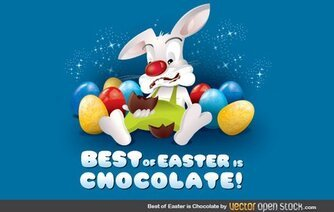 Best Of Easter est Bunny chocolat oeuf chocolat