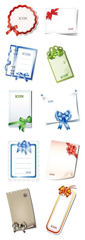 10 blank cards with ribbon