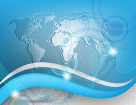 Abstract Global Tech Business Background