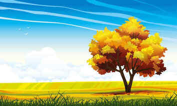 Cartoon Landscapes Trees