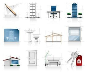interieur architecturale schetsen pictogram
