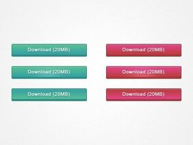 Minimal Download Buttons PSD