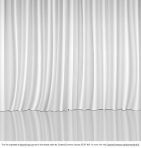 Vector White Curtains