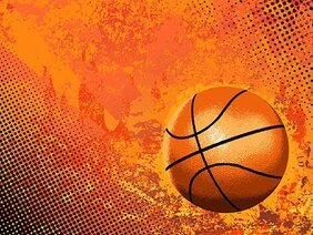 Cool basketball and background elements of