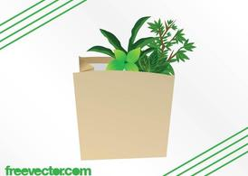 Plants In Paper Bag