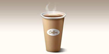 Paper coffee cup icon (PSD)