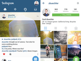 Instagram in Materialdesign