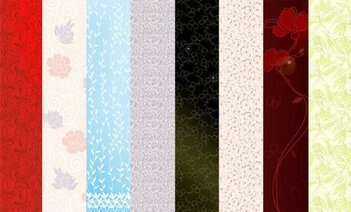 Featured flowers vector background material