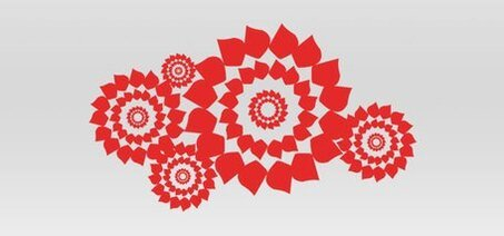 Flower wheel pattern