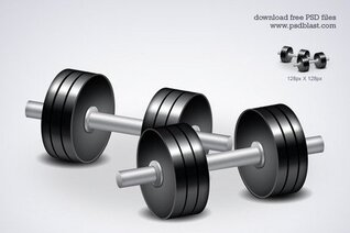 Free fitness icon dumbbell workouts