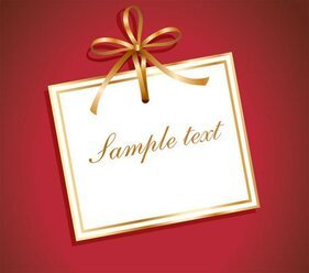 Gift Card Vector with Gold Ribbon (Free)