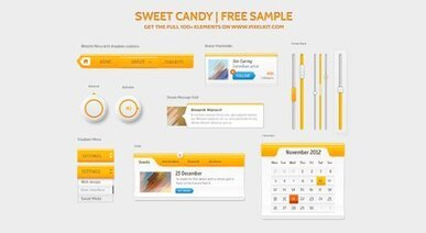 Sweet Candy UI Kit - Submitted by Pixel Kit