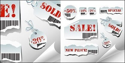 Torn sales tag