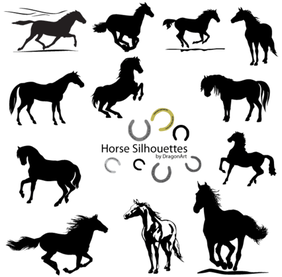 Vector Horse Silhouettes