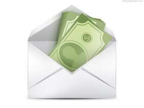 Money in envelope (PSD)