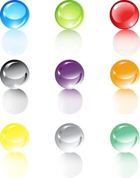 Set Of Translucent Crystal Ball