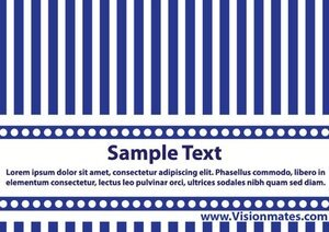 Blue And White Vector Business Card