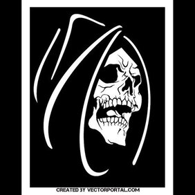 DEATH FACE VECTOR IMAGE.eps