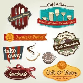 Restaurant menu label template 02