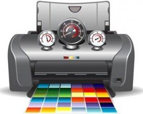Ilustrations stock Printer Service