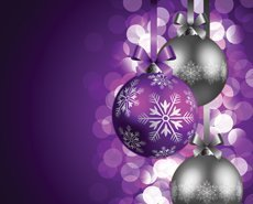 Christmas ball with bokeh background illustration