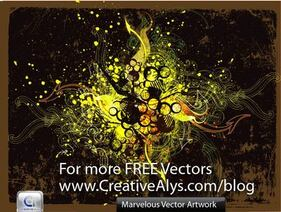 Marvelous Grungy Swirls & Splatters Background