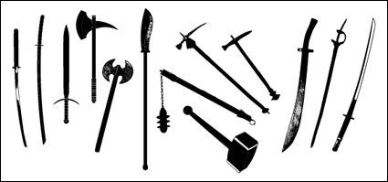 Go Media produced vector material - ancient weapons
