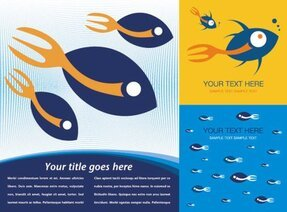 Vector background theme of fish