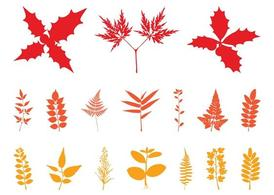 Autumn Leaves Silhouettes