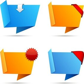 Origami Decorative Graphics Vector 2